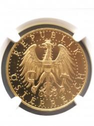 1928年 オーストリア 100シリング プルーフライク金貨 NGC PL63