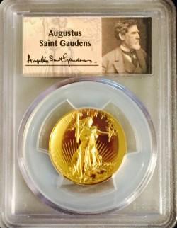 2009年 米国 ウルトラハイリリーフ金貨 セントゴーデンズラベル PCGS MS70PL