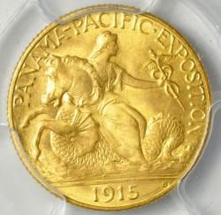 最高鑑定 1915-S パナマ・パシフィック2.5ドル金貨PCGS MS67