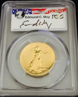 2009年 米国 ウルトラハイリリーフ金貨 PCGS MS70PL Moyサインラベル