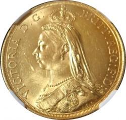 1887英国2ポンドジュビリー金貨NGC MS63
