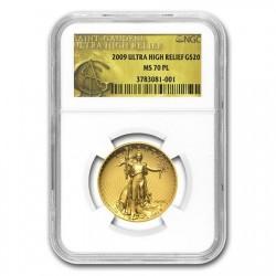 2009年 米国 ウルトラハイリリーフ金貨 NGC MS70PL