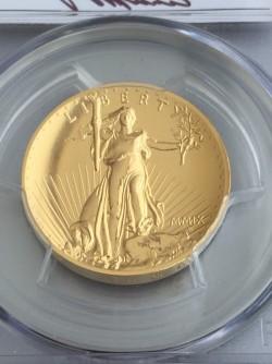 値下げしました! 世界で完売!! 2009年 米国 ウルトラハイリリーフ金貨 PCGS MS70PL Mercantiサイン入りスラブ