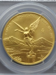 最高鑑定 2009年 メキシカン リベルタード金貨 PCGS MS70