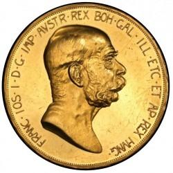1908年オーストリア100コロナ金貨 雲上の女神 PCGS PR62