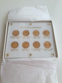 英国ソブリン金貨8枚セット