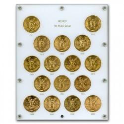 1921年-1947年メキシコ50ペソ金貨16枚セット