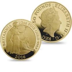 世界で完売! 2016年 英国 プレミアム・ブリタニア (ウナとライオン) プルーフ金貨6枚セット