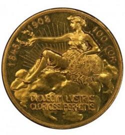 1908年 オーストリア 100コロナプルーフ金貨 雲上の女神 PCGS PR61