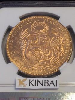 発行数540枚 1969年 ペルー 100ソル金貨 NGC MS65