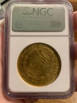 8エスクード金貨も人気が出てきました。1801年メキシコ 8エスクード金貨 NGC AU58