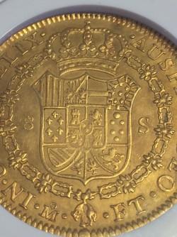 <FONT color=blue>大特価!</FONT>1801年メキシコ 8エスクード NGC AU58