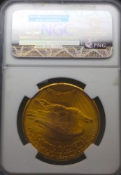 最高鑑定 1927年 セントゴーデンズ金貨 NGC MS67