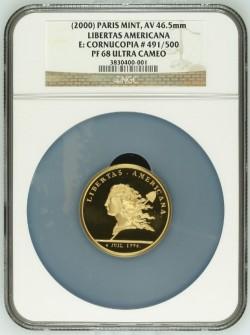 2000年フランス Libertas America 金貨 NGC PF68 UC