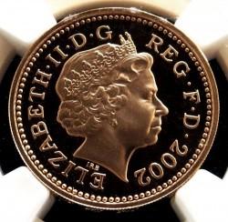 最高鑑定 2002年 英国 スリーライオン 1ポンドプルーフ金貨 NGC PF69UC
