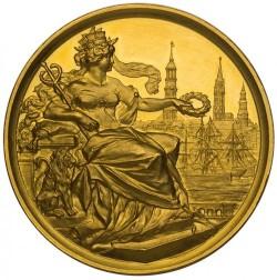 1889年ドイツ German States Hamburg ゴールドメダル (12.5ダカット相当)NGC MS63