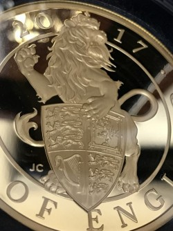 最後の1枚 2017年英国 クイーンズ・ビースト-イギリスのライオン 5オンスプルーフ金貨