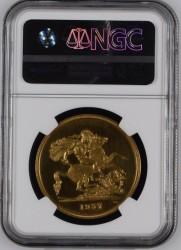 1937年 英国 ジョージ6世 5ポンド金貨 NGC PF64 Ultra Cameo