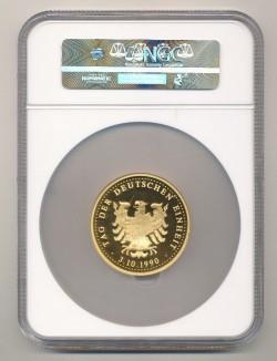最高鑑定 2枚 1990年 東西ドイツ統合記念 61グラム大型ゴールドメダル NGC PF68UC