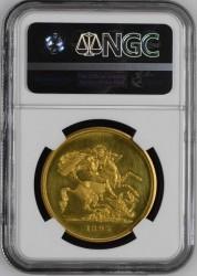 1893年 英国 ヴィクトリア・ベールヘッド 5ポンドプルーフ金貨 NGC PF62 Ultra Cameo