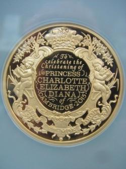 2015年 英国 シャーロット洗礼500ポンド金貨NGC GEM PROOF
