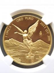 最高鑑定 2011年 メキシカン リベルタード金貨 NGC PF70 Ultra Cameo