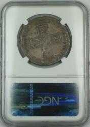 あのVIGOです! 1703年 英国 アン女王 VIGO 1/2クラウン銀貨 NGC AU55