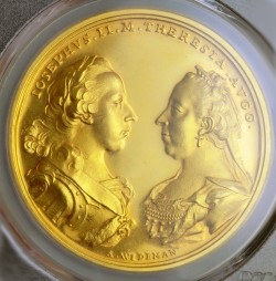 <FONT color=blue>大特価!</FONT>鑑定品これ一枚! 発行20枚のみ 1969年/1769年 オーストリア トリエステ ゴールドメダル リストライク PCGS SP64
