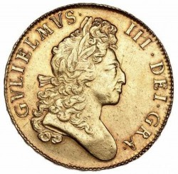 1700年 英国 ウィリアム3世 5ギニー金貨