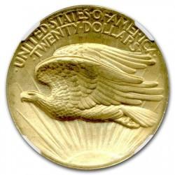 1907年セント・ゴーデンズ $20 プルーフ金貨 NGC PF65