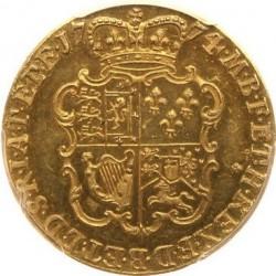 最高鑑定! 激レア 1774年 英国 ジョージ3世 プルーフギニー金貨 PCGS PR64