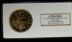 2005年 ジョージ・T・モーガン 5オンスプルーフ金貨 NGC GEM PROOF