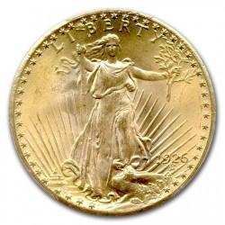 最高鑑定 1926年 セントゴーデンズ$20金貨 TDO FS-101