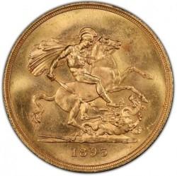 最高鑑定 希少 1893年 英国 ヴィクトリア女王 オールドヘッド PCGS MS64