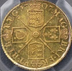 最高鑑定 300年以上前でこの状態! 1707年 英国 アン女王ギニー金貨 MS62