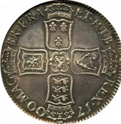 写真追加 1700年 英国 ウィリアム3世 クラウン銀貨 AU55