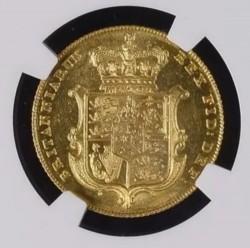 単独の最高鑑定品! 1826年 英国 ジョージ4世 ソブリン金貨 NGC MS63+
