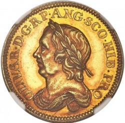 最高鑑定品でオンリーワン! 1658年 英国 オリバー・クロムウェル デス(Death) ゴールドメダル NGC MS62