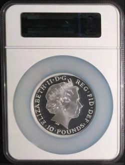 2014年 英国 プレミアム・ブリタニア5オンスプルーフ銀貨 NGC PF70UC
