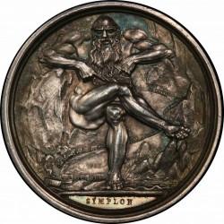 鑑定1枚のみ デザインが素晴らしい 1807年 フランス ナポレオン シルバーメダル PCGS SP63