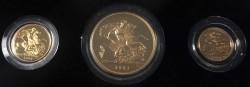 1984年 英国 ヤングエリザベス 3プルーフ金貨セット
