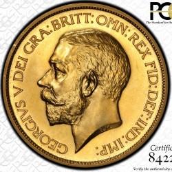 200万切る価格! 1911年 英国 ジョージ5世5ポンドプルーフ金貨 PCGS PR63