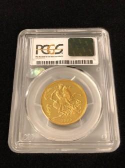 1893年 英国 ヴィクトリア女王 オールドヘッド 2ポンドプルーフ金貨 PCGS PR63DCAM