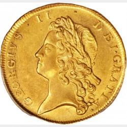 1738年 英国 ジョージ2世 2ギニー金貨 PCGS AU58