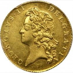 1739年 英国 ジョージ2世 2ギニー金貨 PCGS AU55