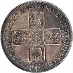 1746年 LIMA 英国 ジョージ2世 クラウン銀貨 NGC AU58