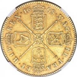 激レア 1668年 英国 チャールズ2世 5ギニー金貨 NGC XF45