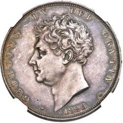 1826年 英国 ジョージ4世 プルーフクラウン銀貨 NGC PF62