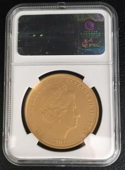 発行100枚 2014年イギリス領トリスタンダクーニャ G100P ジョージ王子1歳記念金貨 NGC PF70 Ultra Cameo