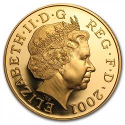 2001年 英国 エリザベス2世 ヴィクトリア没後100年 5ポンドプルーフ金貨